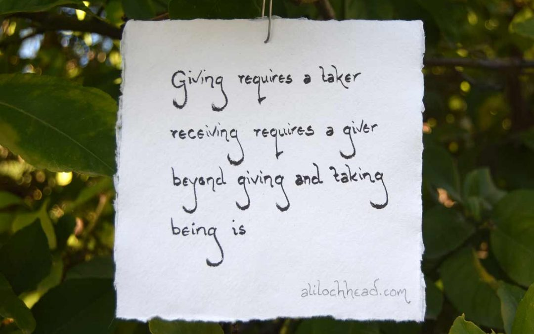 beyond giving and taking